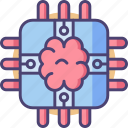brain, brain chip, brain power, chip icon