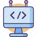 code, coding, html, programming icon