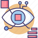 biometric data, cyber, eye, retina icon