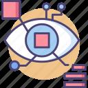 biometric data, cyber, eye, retina