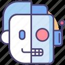 cybernetics, cyborg, robocop, robot, terminator icon