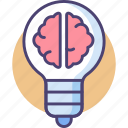 brain, idea, intelligence, iq icon