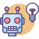 artificial intelligence, machine, machine learning, robot, robotic icon