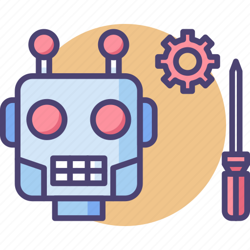 maintenance, robot, robotic, robotic engineering, robotics icon