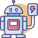 bot, charging, charging robot, robot, robotic, robotics icon