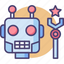contest, robot, robot contest, robotic contest, robotics icon
