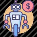 robot, robot cost, robot price, robotics icon