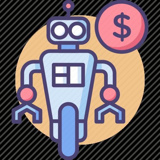 Robot, robot cost, robot price, robotics icon - Download on Iconfinder