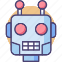 bot, head, robot, robot head, robotic head icon