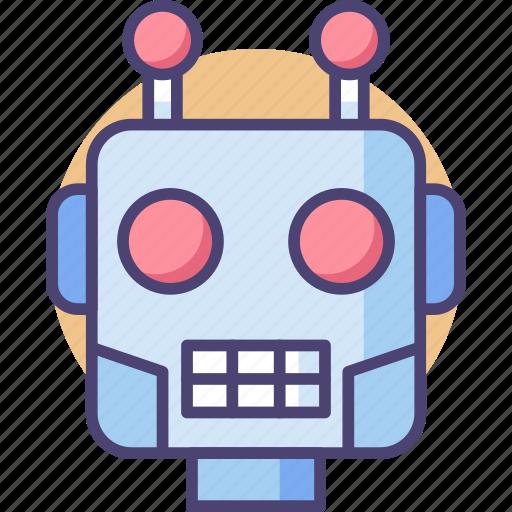 bot, head, robot, robot head, robotic head icon