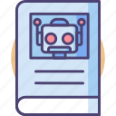 instructions, manual, robot, robot manual, robotics manual icon