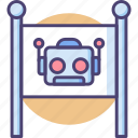 robot, robot area, robot zone, robotics icon