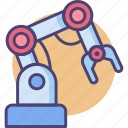 arm, robotic, robotic arm, robotic engineering, robotics icon
