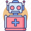medical robot, robot, robot nurse, robotic, robotics support, support icon
