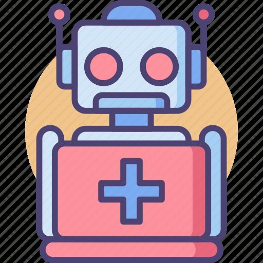 medical robot, robot, robot nurse, robotic, robotics support, support icon