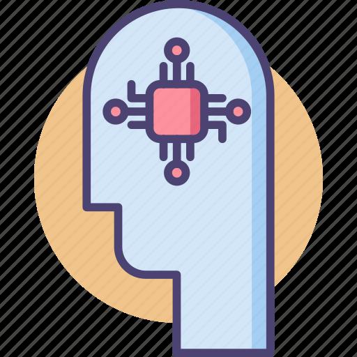 ai, artificial intelligence, human, intelligent, smart, smart human icon