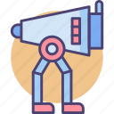 robot, robotics, walking scout icon