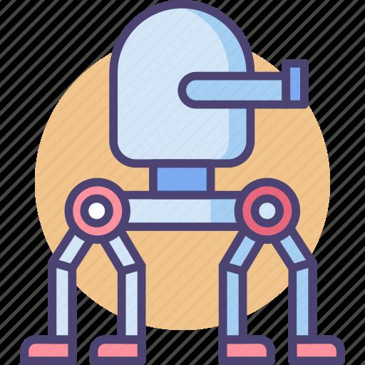 robot, robotic, robotics, turret, walking turret, weapon icon