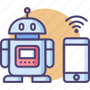mobile controlled robot, robot, robotic, robotics, wireless icon