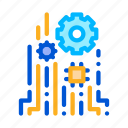 chip, concept, mechanical, technology icon