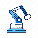 arm, factory, industrial, innovation, robot, smart manufacturing, technology icon