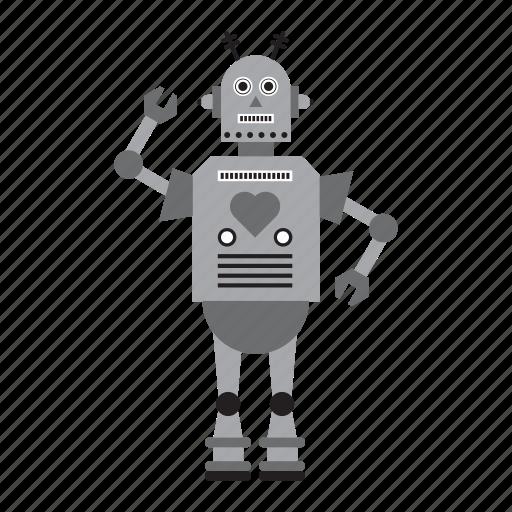humanoid, machine, robot, toy icon