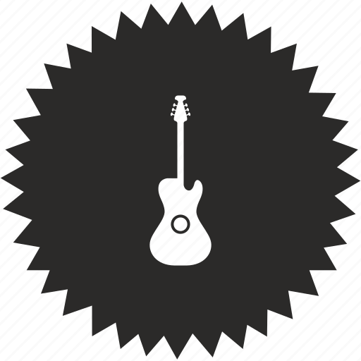 Guitar, instrument, sound, music, electric icon