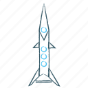 rocket, seo, space, spaceship icon