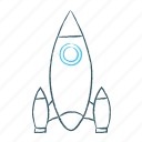 rocket, seo, space, spaceship icon