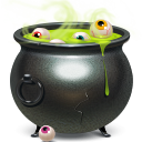 cauldron, halloween icon