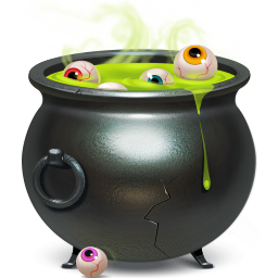 cauldron, piggybank icon