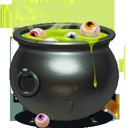 cauldron, piggybank icon
