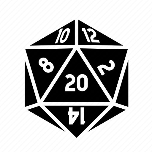 D20, dice, roleplay, tabletop icon - Download on Iconfinder