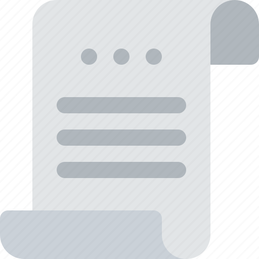 bill, cheque, diploma, document, file, payment, roll icon