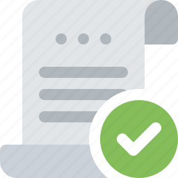 bill, check, document, file, paper, payment, roll icon