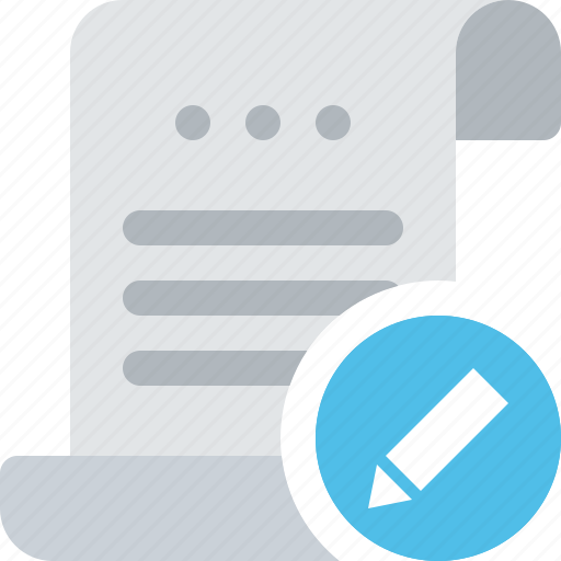 bill, document, edit, file, modify, payment, roll icon