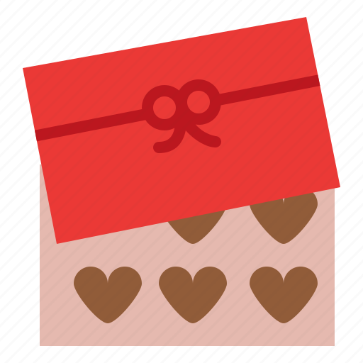 chocolate, love, romance, valentine icon