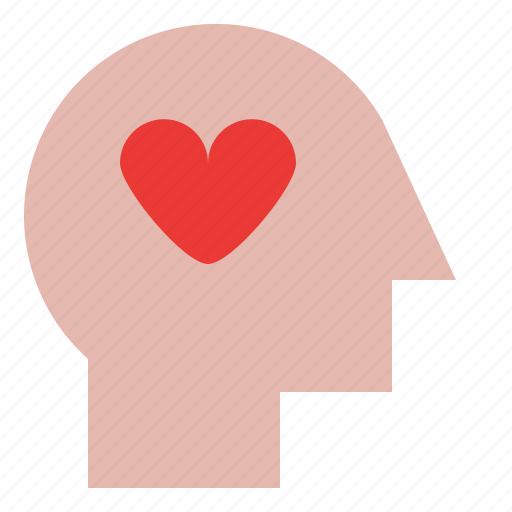 head, heart, romance, thinking icon