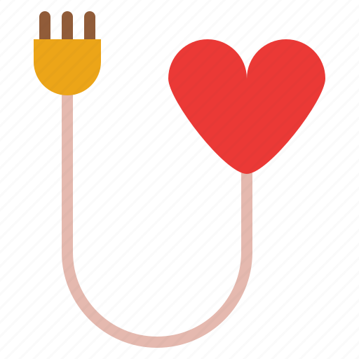 Heart, plug, rechange, romance icon - Download on Iconfinder