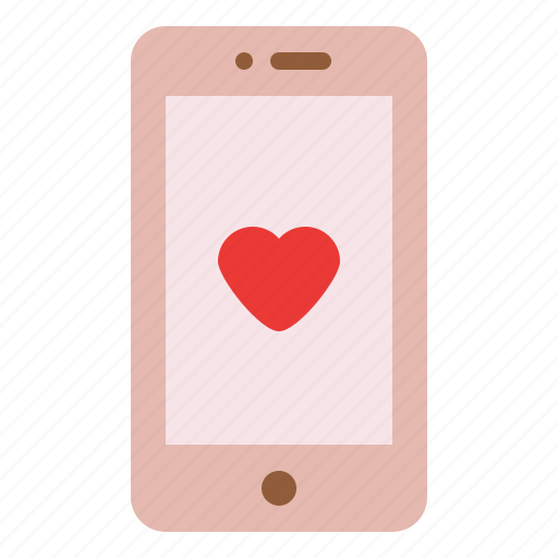 love, phone, relationship, romance icon