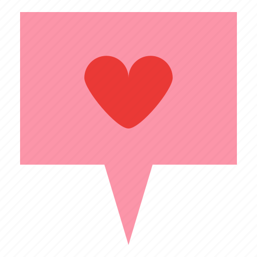 Love, pin, post, romance icon - Download on Iconfinder
