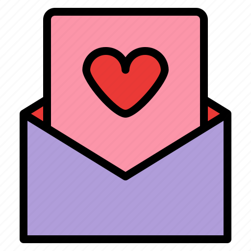 card, letter, love, romance icon