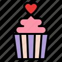 cupcake, romance, sweet, valentine