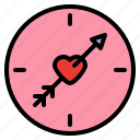 compass, direction, love, romance icon