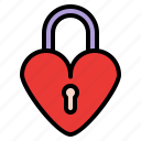 heart, locked, love, romance