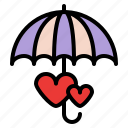 couple, rain, romance, umbella icon