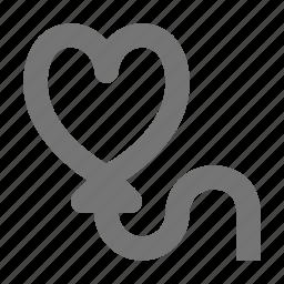 balloon, heart, love icon