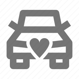 car, couple, heart, love, romantic, transport, vehicle, wedding icon