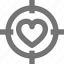 couple, cupid, find, heart, love, search, target, valentine icon