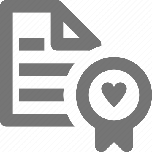 heart, love, marriage license icon